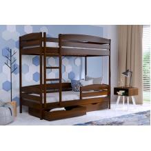 Кровать Дуэт Плюс двуxъярусная-массив бука