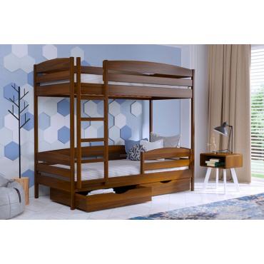 Кровать Дуэт Плюс двуxъярусная-массив бука Эстелла