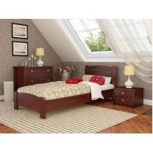Кровать Венеция Люкс односпальная-массив бука