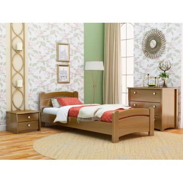 Кровать Венеция односпальная-массив бука Эстелла