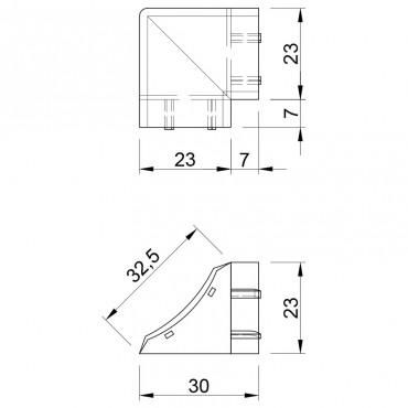 Наружный угол для бортика Термопласт