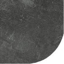 Столешница со скругленным углом Бетон черный 38 мм