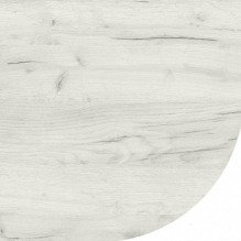 Столешница со скругленным углом Дуб крафт белый 38 мм
