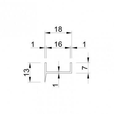 Уплотнитель цокольный 16 мм Термопласт