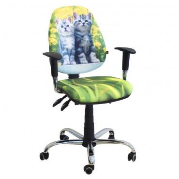 Кресло Бридж Хром Дизайн №8 Котята AMF