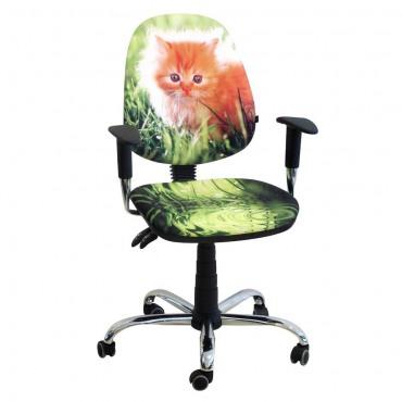 Кресло Бридж Хром Дизайн №11 Котенок AMF