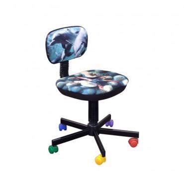 Кресло детское Бамбо Дизайн №5 Дельфины AMF