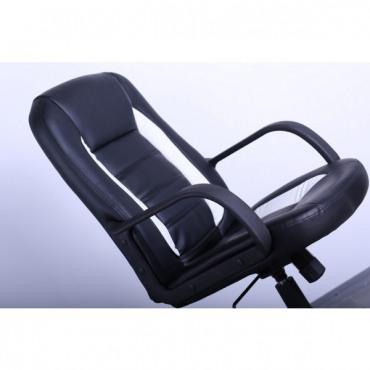 Кресло Дрифт к/з PU черный/желтые вставки AMF