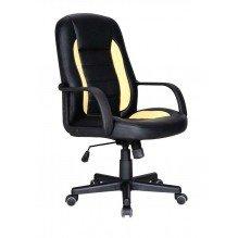 Кресло Дрифт к/з PU черный/желтые вставки