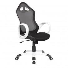 Кресло Матрикс-2 Белый, сиденье Сетка черная/спинка Сетка черная