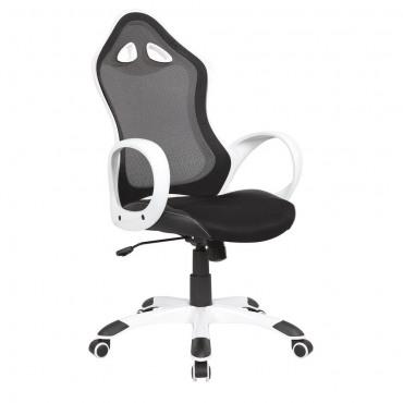 Кресло Матрикс-2 Белый, сиденье Сетка черная/спинка Сетка черная AMF
