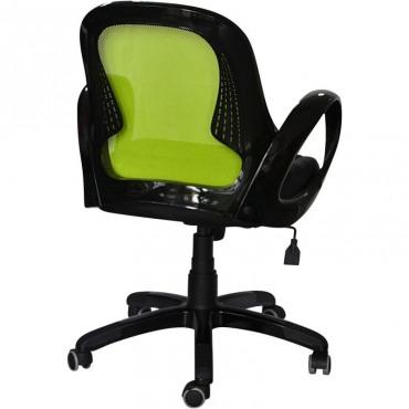 Кресло Матрикс-LB Черный, сиденье Сетка черная/спинка Сетка салатовая AMF