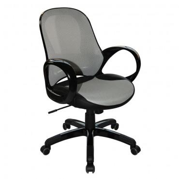 Кресло Матрикс-LB Черный, сиденье Сетка черная/спинка Сетка черная AMF