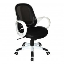 Кресло Матрикс-LB Белый, сиденье Сетка черная/спинка Сетка черная