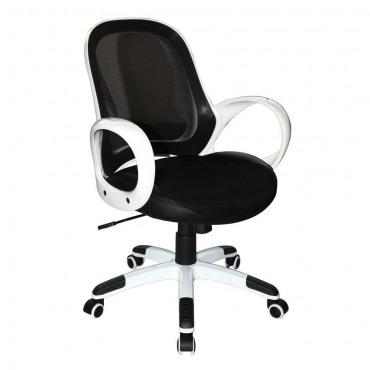 Кресло Матрикс-LB Белый, сиденье Сетка черная/спинка Сетка черная AMF