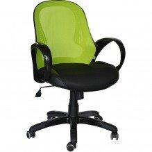 Кресло Матрикс-LB Черный, сиденье Сетка черная/спинка Сетка салатовая
