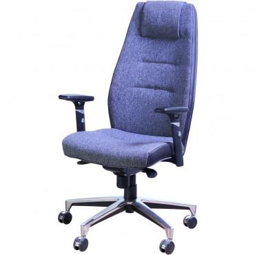 Кресло Элеганс НВ Неаполь-6 (голубой), боковины/задник Неаполь-23 (серый) AMF