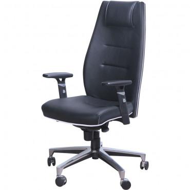 Кресло Элеганс НВ Неаполь-20 (черный), кант Неаполь-50 (белый) AMF