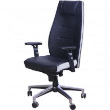 Кресло Элеганс НВ Неаполь-20 (черный), боковины/задник Неаполь-50 (белый)