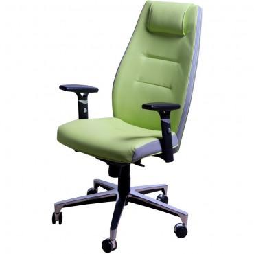 Кресло Элеганс НВ Неаполь-34 (салатовый), боковины/задник Неаполь-23 (серый) AMF