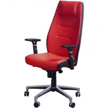 Кресло Элеганс НВ Неаполь-36 (красный), боковины/задник Неаполь-20 (черный) AMF