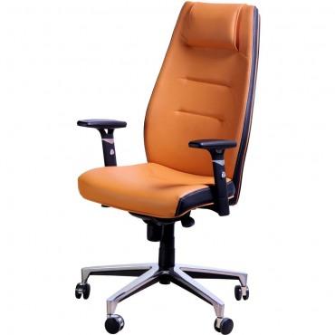 Кресло Элеганс НВ Неаполь-51 (св.коричн.), боковины/задник Неаполь-20 (черный) AMF