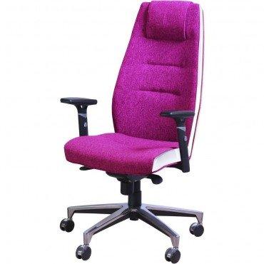 Кресло Элеганс НВ Papermoon-014 (фиалковый), боковины/задник Неаполь-50 (белый) AMF