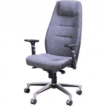 Кресло Элеганс НВ Papermoon-031 (серый), боковины/задник Неаполь-20 (черный) AMF