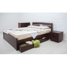 Кровать  Лика Люкс с ящиками Бук