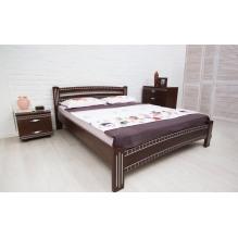 Кровать Милана Люкс с фрезеровкой Бук