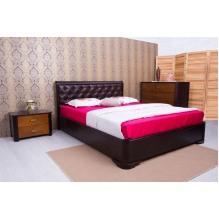 Кровать Милена с мягкой спинкой ромбы Бук