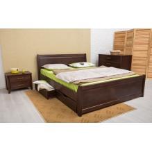 Кровать Сити с филенкой и ящиками Бук
