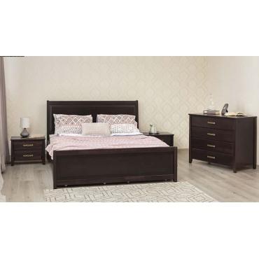 Кровать Сити Премиум с филенкой и ящиками Бук Олимп