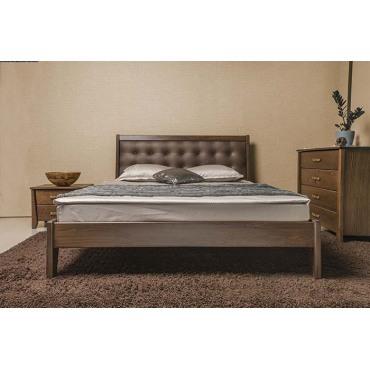 Кровать Сити Премиум с мягкой спинкой без изножья Бук Олимп