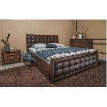 Кровать Сити Премиум с мягкой спинкой и ящиками Бук