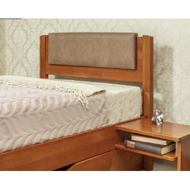 Кровать Лика Люкс с мягкой спинкой и ящиками Бук Олимп