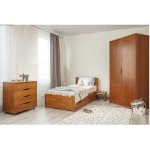 Кровать Лика Люкс с мягкой спинкой и ящиками Бук