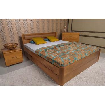 Кровать Марго мягкая с ящиками Бук Олимп