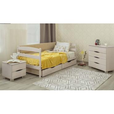 Кровать Марио с мягкой спинкой Бук Олимп