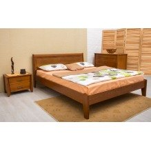 Кровать Сити с интарсией без изножья Бук
