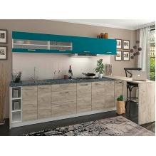 Кухня Шарлотта Дуб крафт серый/индиго 2,8 м.