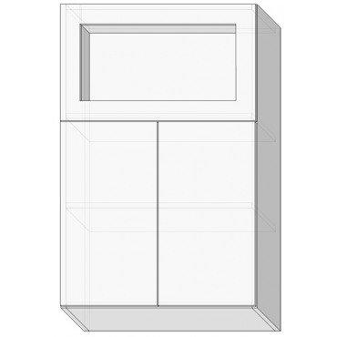 80 верх витрина м/925 Кухня София Люкс Сокме